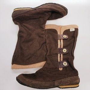 Simple Canvas Mid Calf boots size 8